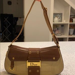 Christian Dior clutch bag-brown and tan purse-used
